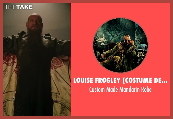 Louise Frogley (Costume Designer) robe from Iron Man 3 seen with Ben Kingsley (Trevor Slattery)