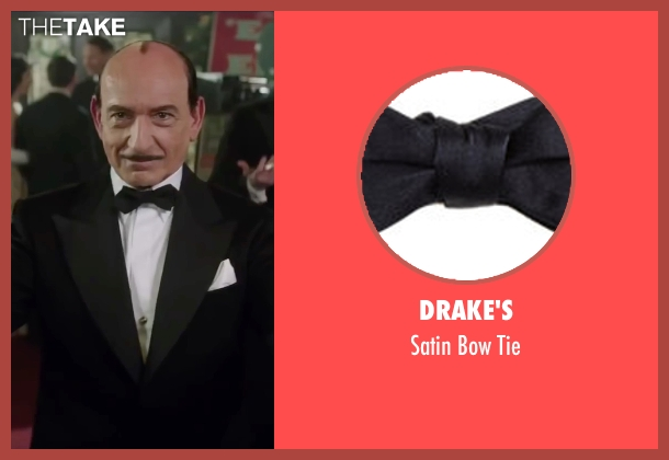 Drake's black tie from Life seen with Ben Kingsley (Jack Warner)