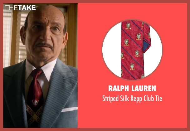 Ralph Lauren red tie from Life seen with Ben Kingsley (Jack Warner)