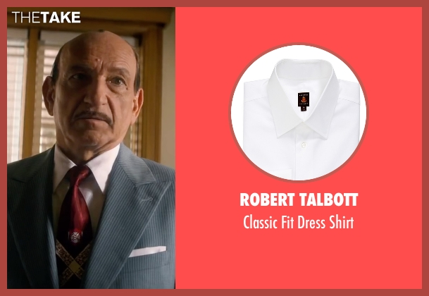 Robert Talbott white shirt from Life seen with Ben Kingsley (Jack Warner)