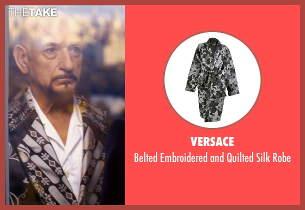 Versace black robe from Self/Less seen with Ben Kingsley (Damian)