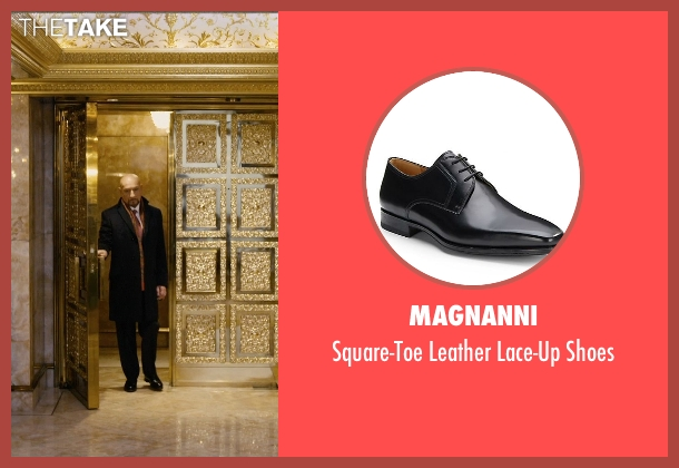 Magnanni black shoes from Self/Less seen with Ben Kingsley (Damian)