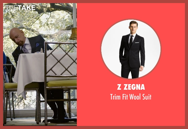 Z Zegna black suit from Self/Less seen with Ben Kingsley (Damian)