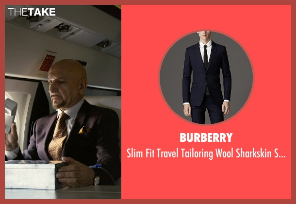 Burberry blue suit from Self/Less seen with Ben Kingsley (Damian)