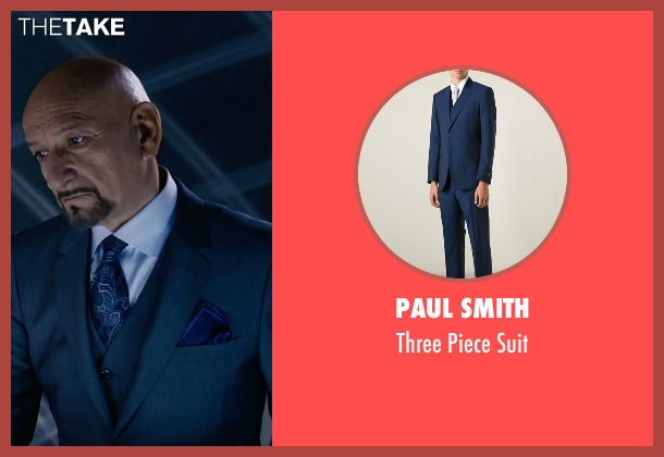 Paul Smith blue suit from Self/Less seen with Ben Kingsley (Damian)