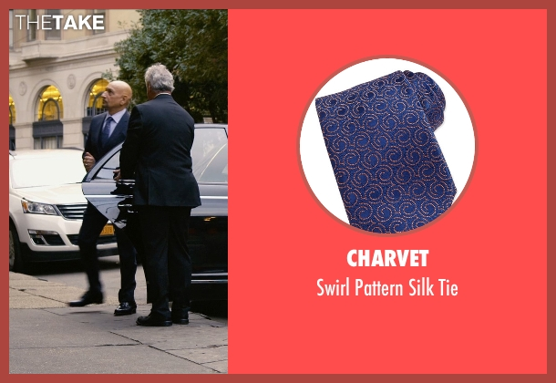 Charvet blue tie from Self/Less seen with Ben Kingsley (Damian)