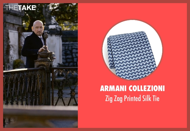 Armani Collezioni blue tie from Self/Less seen with Ben Kingsley (Damian)