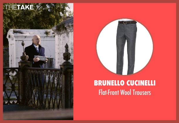 Brunello Cucinelli gray trousers from Self/Less seen with Ben Kingsley (Damian)