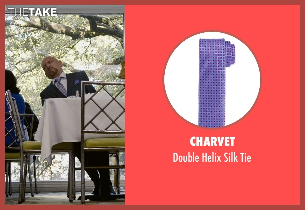 Charvet purple tie from Self/Less seen with Ben Kingsley (Damian)