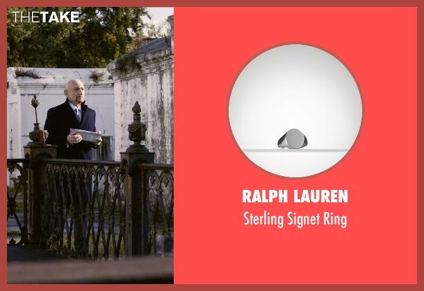 Ralph Lauren silver ring from Self/Less seen with Ben Kingsley (Damian)