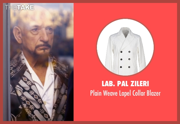 Lab. Pal Zileri white blazer from Self/Less seen with Ben Kingsley (Damian)