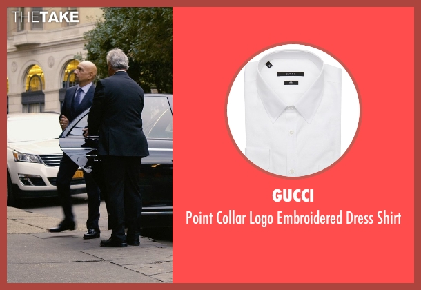 Gucci white shirt from Self/Less seen with Ben Kingsley (Damian)