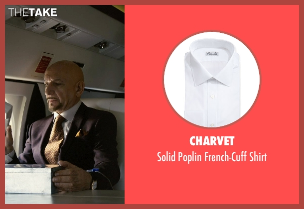 Charvet white shirt from Self/Less seen with Ben Kingsley (Damian)