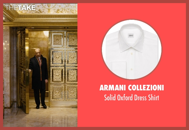 Armani Collezioni white shirt from Self/Less seen with Ben Kingsley (Damian)