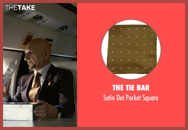 The Tie Bar yellow square from Self/Less seen with Ben Kingsley (Damian)