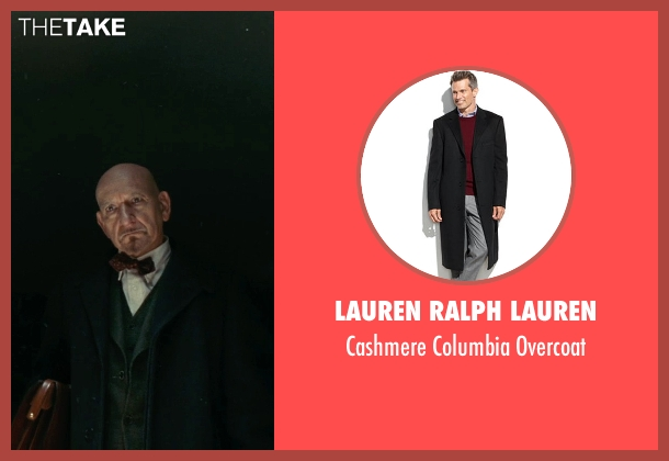 Lauren Ralph Lauren black overcoat from Shutter Island seen with Ben Kingsley (Dr. Cawley)