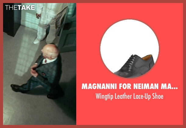 Magnanni for Neiman Marcus black shoe from Shutter Island seen with Ben Kingsley (Dr. Cawley)