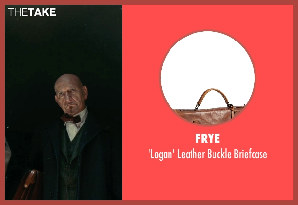 Frye brown briefcase from Shutter Island seen with Ben Kingsley (Dr. Cawley)