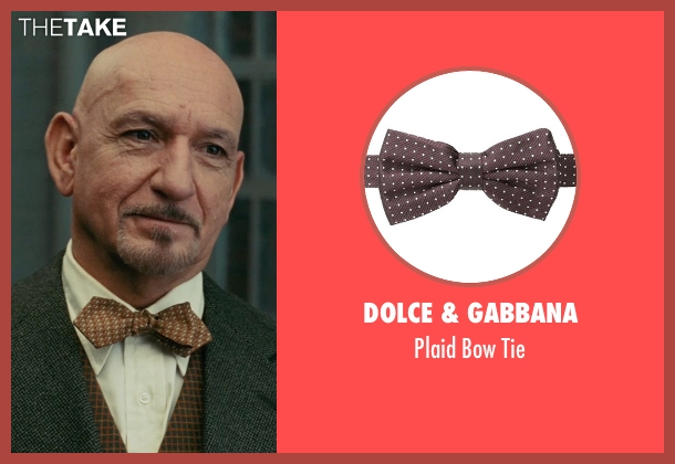 Dolce & Gabbana brown tie from Shutter Island seen with Ben Kingsley (Dr. Cawley)