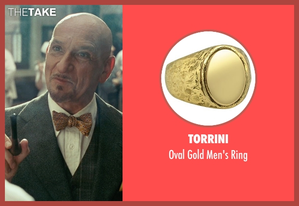 Torrini gold ring from Shutter Island seen with Ben Kingsley (Dr. Cawley)