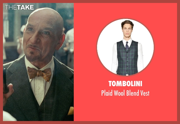 Tombolini green vest from Shutter Island seen with Ben Kingsley (Dr. Cawley)