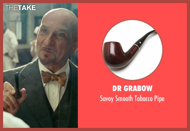 Dr Grabow pipe from Shutter Island seen with Ben Kingsley (Dr. Cawley)
