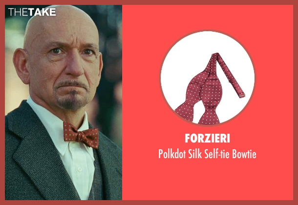 Forzieri red bowtie from Shutter Island seen with Ben Kingsley (Dr. Cawley)