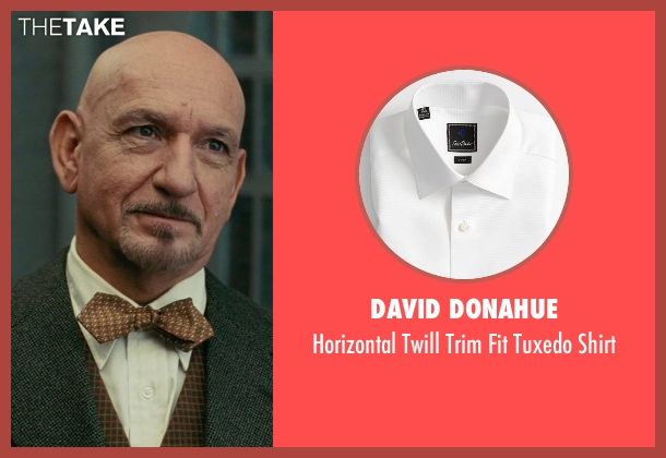David Donahue white shirt from Shutter Island seen with Ben Kingsley (Dr. Cawley)