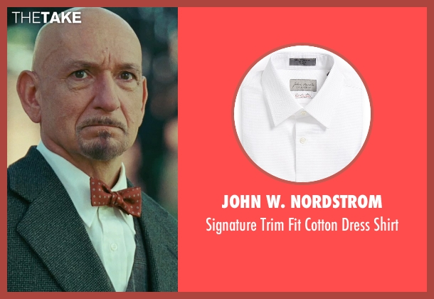 John W. Nordstrom white shirt from Shutter Island seen with Ben Kingsley (Dr. Cawley)