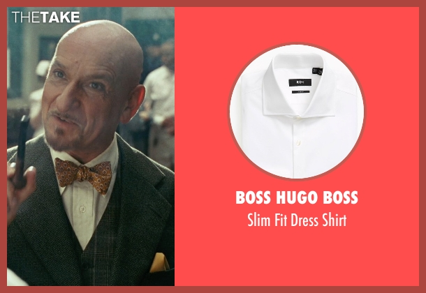 Boss Hugo Boss white shirt from Shutter Island seen with Ben Kingsley (Dr. Cawley)