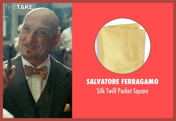 Salvatore Ferragamo yellow square from Shutter Island seen with Ben Kingsley (Dr. Cawley)