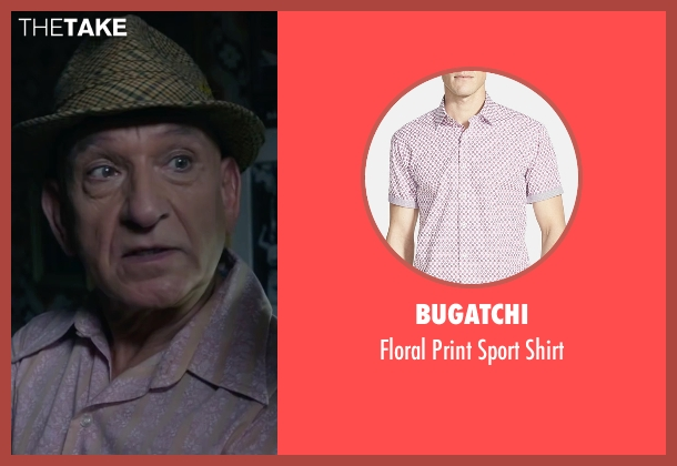 Bugatchi pink shirt from The Walk seen with Ben Kingsley (Unknown Character)