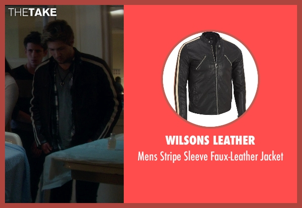 Wilsons Leather black jacket from If I Stay seen with Ben Klassen (Willamette Stone Band)