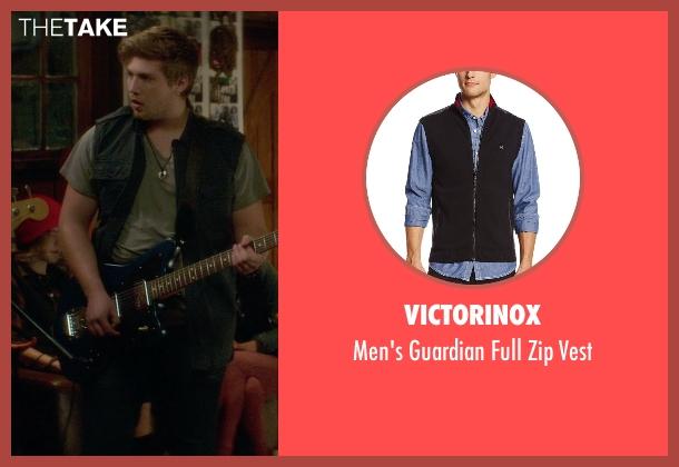 Victorinox black vest from If I Stay seen with Ben Klassen (Willamette Stone Band)
