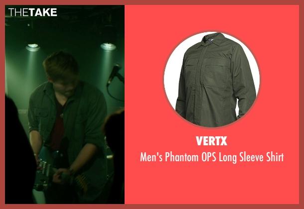 Vertx green shirt from If I Stay seen with Ben Klassen (Willamette Stone Band)
