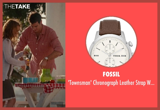 Fossil brown watch from No Strings Attached seen with Ben Lawson (Sam)
