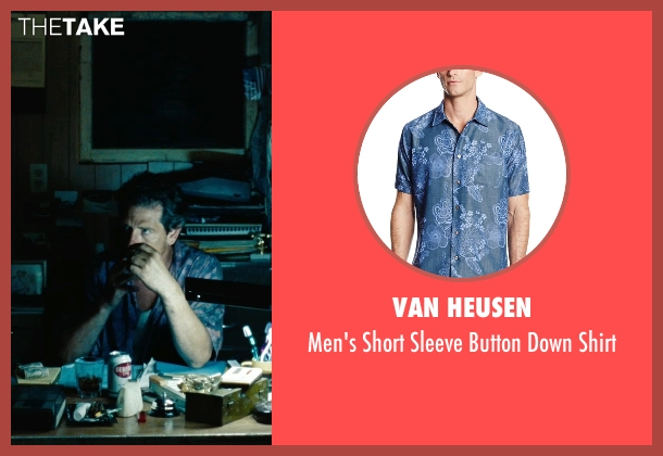 Van Heusen blue shirt from The Place Beyond The Pines seen with Ben Mendelsohn (Robin)