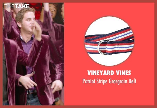 Vineyard Vines blue belt from Pitch Perfect 2 seen with Ben Platt (Benji Applebaum)