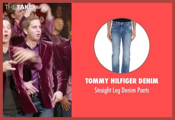 Tommy Hilfiger Denim blue pants from Pitch Perfect 2 seen with Ben Platt (Benji Applebaum)