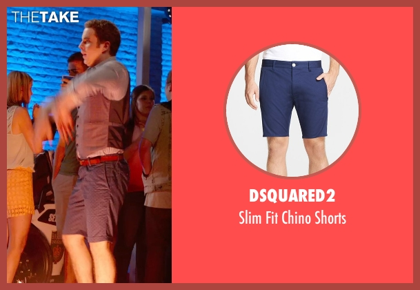 Dsquared2 blue shorts from Pitch Perfect 2 seen with Ben Platt (Benji Applebaum)