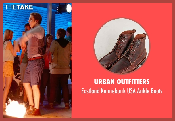 Urban Outfitters brown boots from Pitch Perfect 2 seen with Ben Platt (Benji Applebaum)