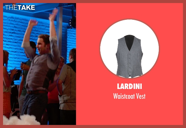 Lardini gray vest from Pitch Perfect 2 seen with Ben Platt (Benji Applebaum)