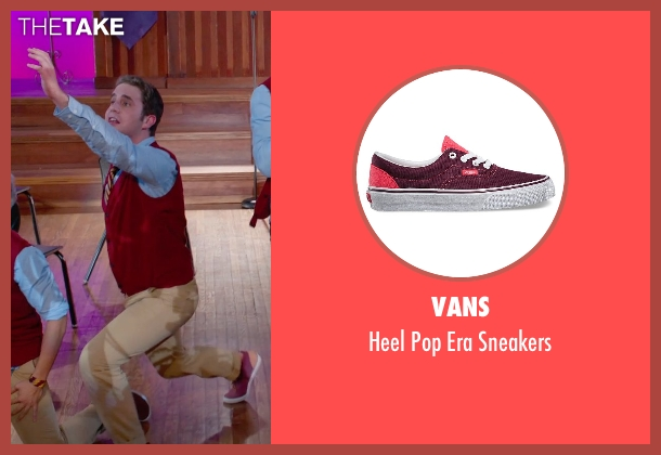 Vans red sneakers from Pitch Perfect 2 seen with Ben Platt (Benji Applebaum)