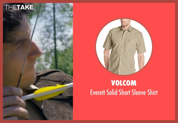 Volcom beige shirt from The Walk seen with Ben Schwartz (Albert)