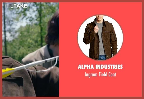 Alpha Industries brown coat from The Walk seen with Ben Schwartz (Albert)