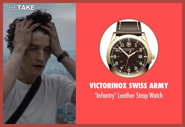 Victorinox Swiss Army brown watch from The Walk seen with Ben Schwartz (Albert)