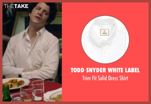 Todd Snyder White Label white shirt from The Walk seen with Ben Schwartz (Albert)