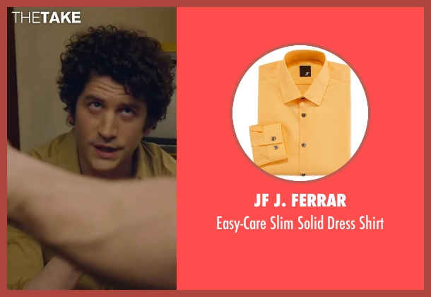 JF J. Ferrar yellow shirt from The Walk seen with Ben Schwartz (Albert)