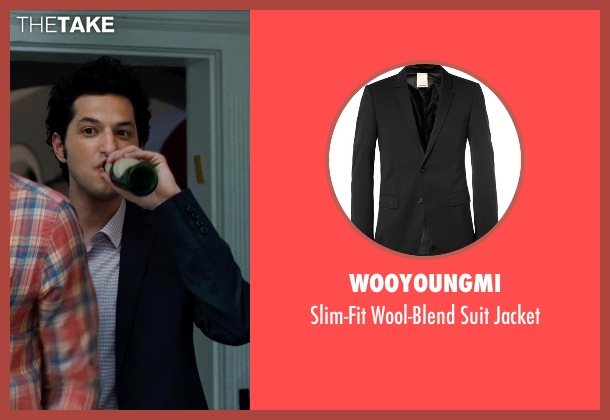 Wooyoungmi black jacket from This Is Where I Leave You seen with Ben Schwartz (Charles 'Boner' Grodner)