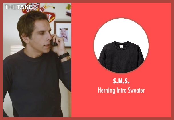 S.N.S. blue sweater from Little Fockers seen with Ben Stiller (Greg Focker)